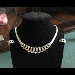 Christian Dior necklace set new. Free BeBe wallet